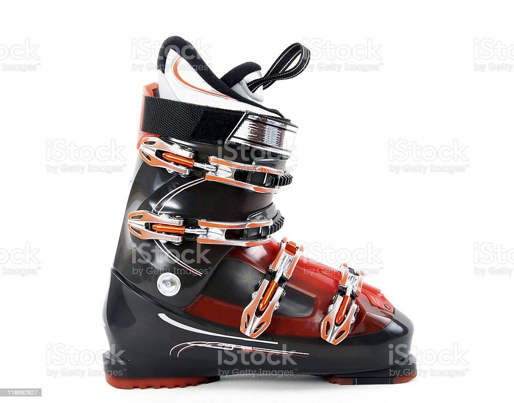New ski boot stock photo
