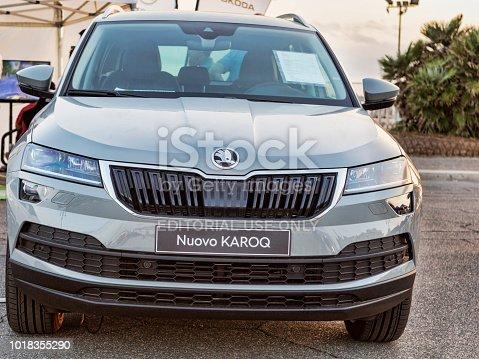istock New Skoda KAROQ car from Skoda automaker in outdoor showroom 1018355290