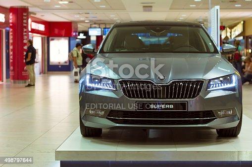 istock New Skoda Superb in the Prague airport 498797644