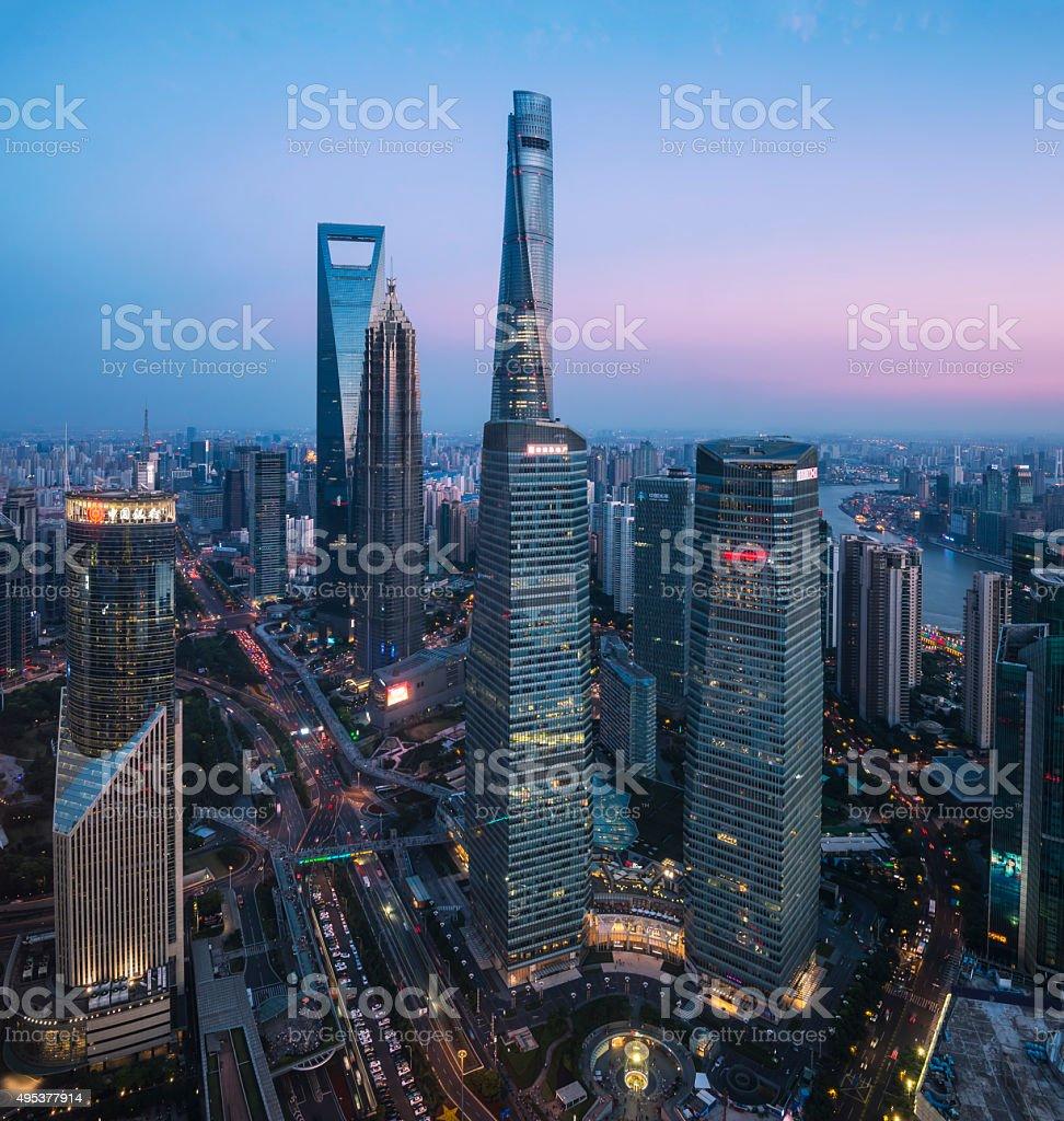 new skyline of Shanghai stock photo