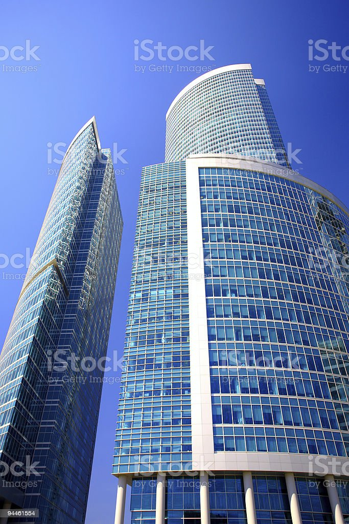 New skyscrapers business centre in moscow city royalty-free stock photo