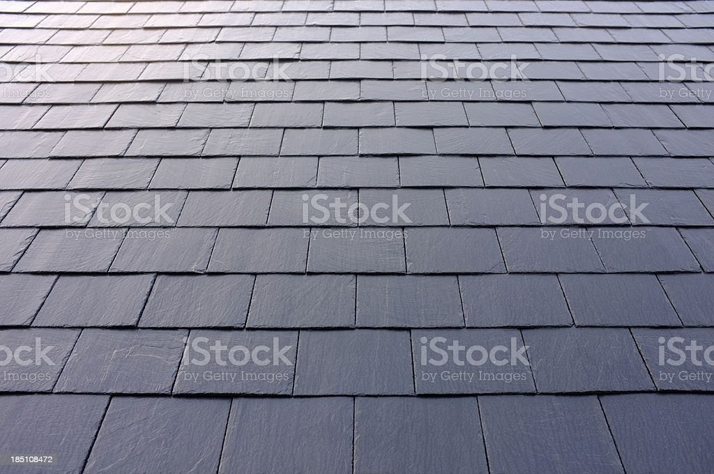 New slate roof. royalty-free stock photo