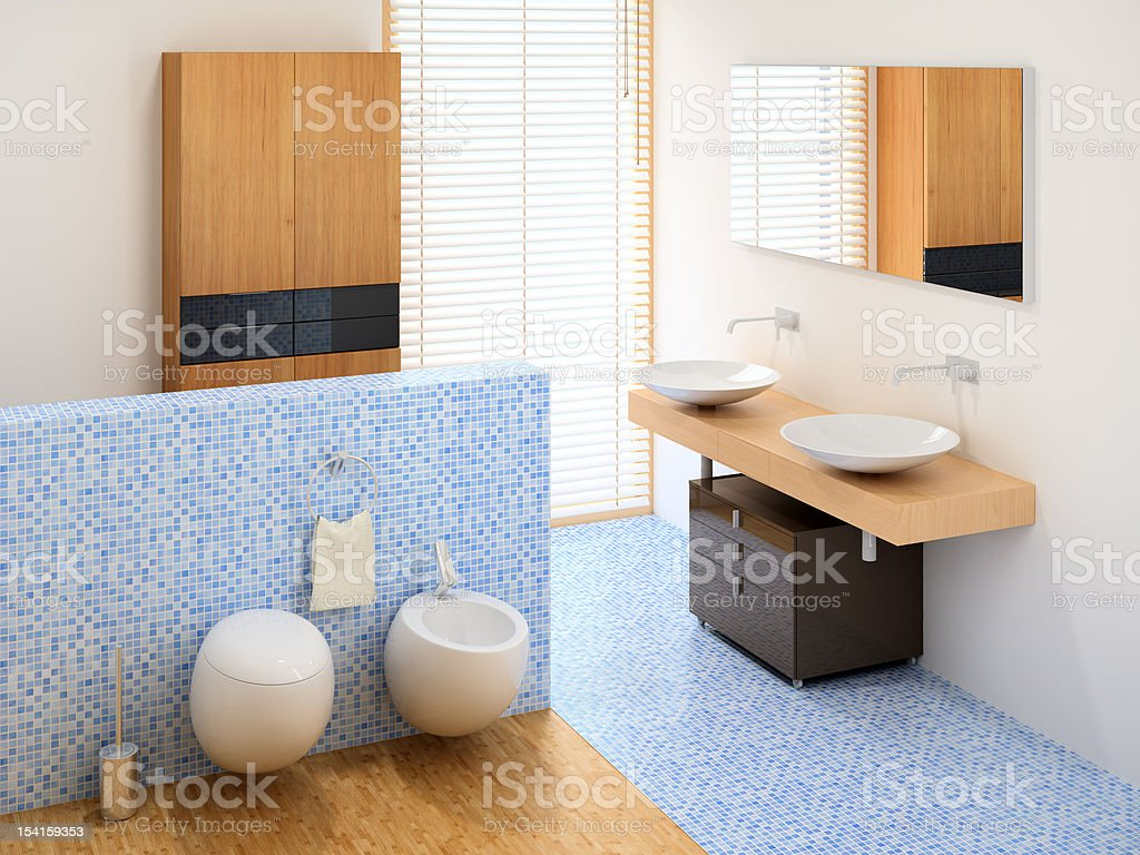 new small bathroom royalty-free stock photo