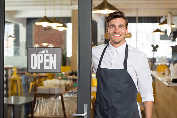 new small business - apron stock pictures, royalty-free photos & images