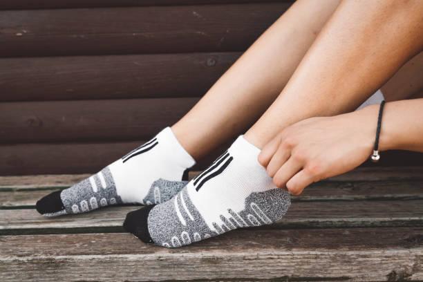 New socks stock photo