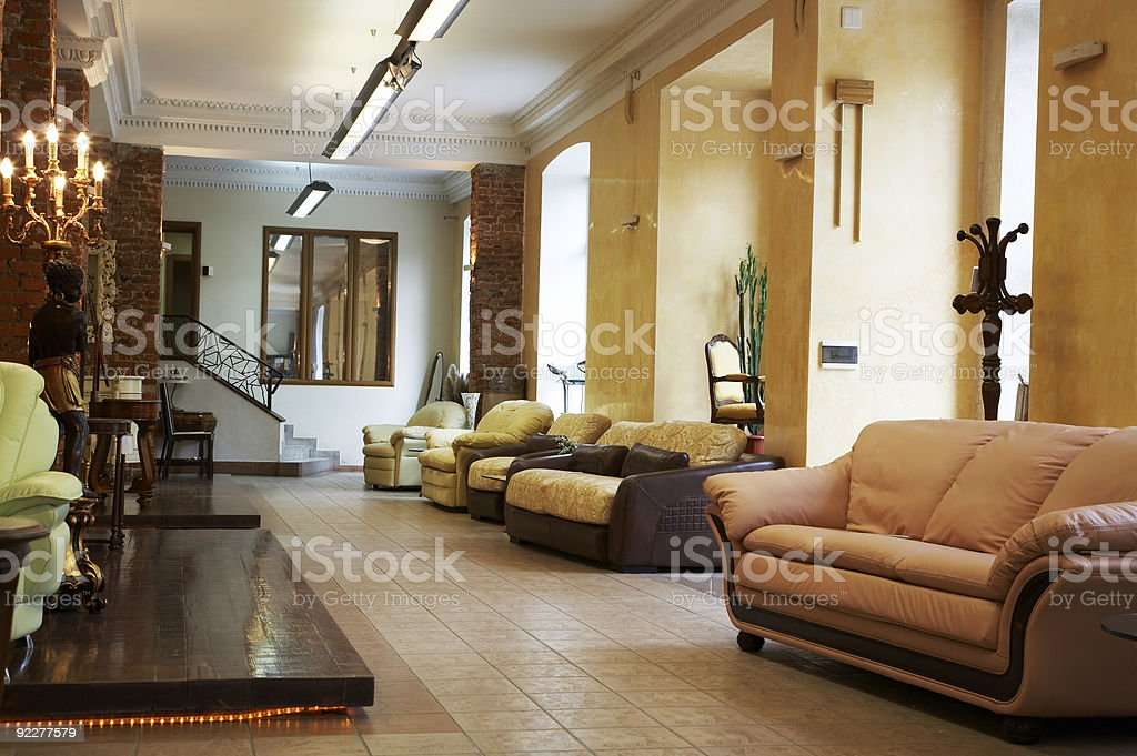New sofas and armchairs royalty-free stock photo