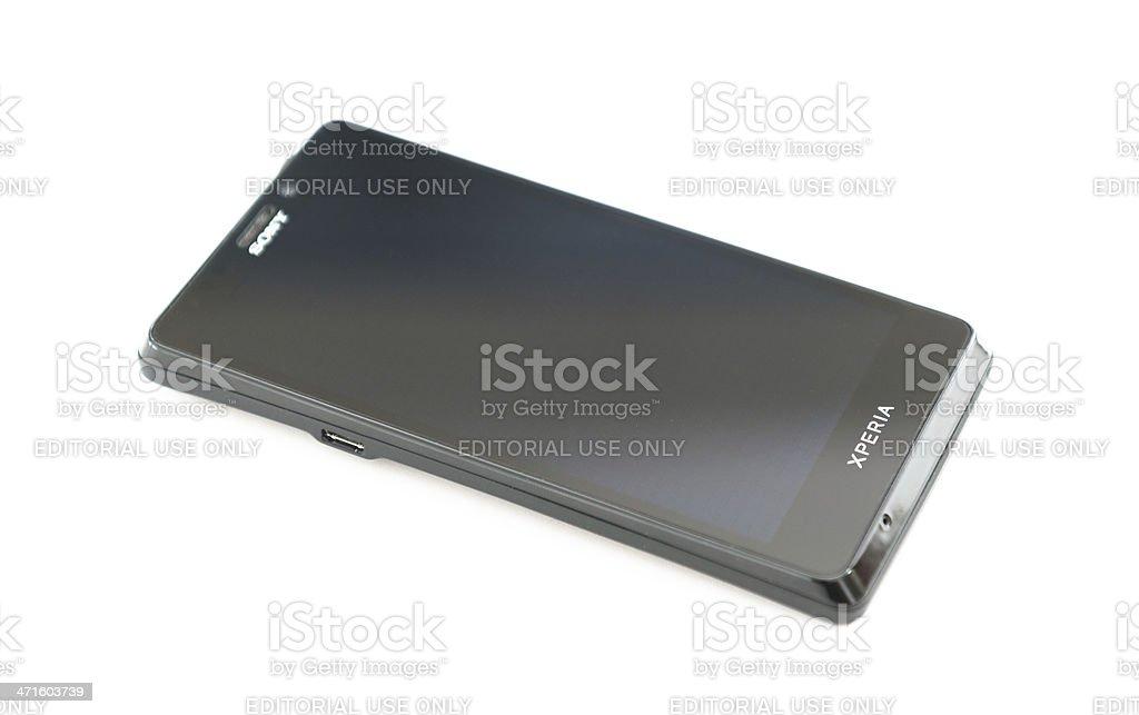 new Sony xperia T smartphone royalty-free stock photo