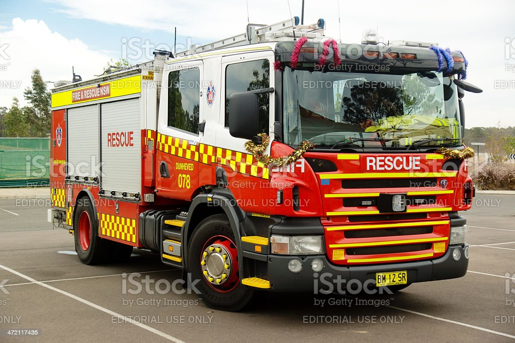 New South Wales Fire Engine stock photo