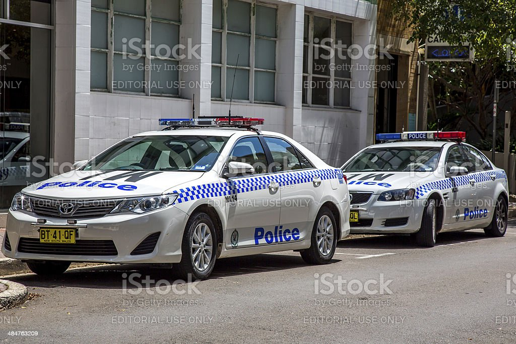 New South Wales, Police Car, Australia stock photo