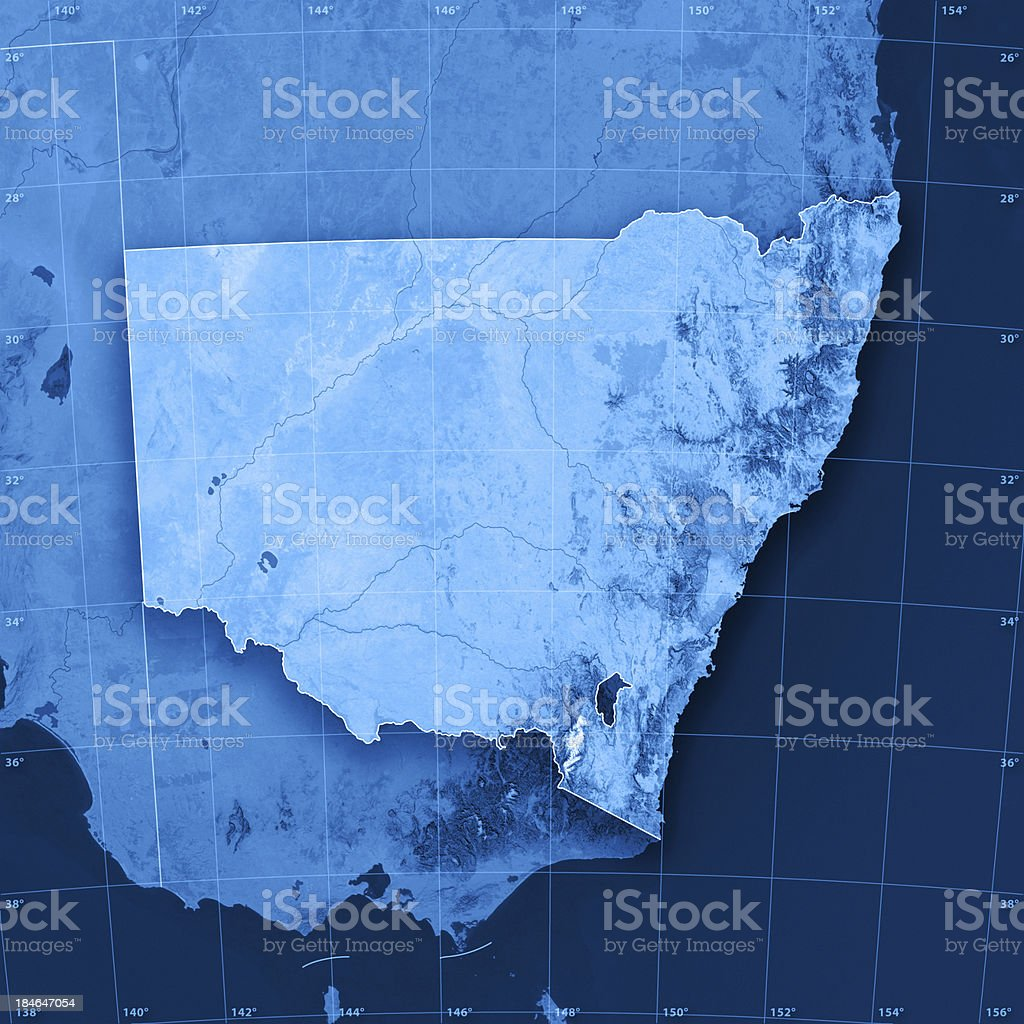 New South Wales Topographic Map stock photo