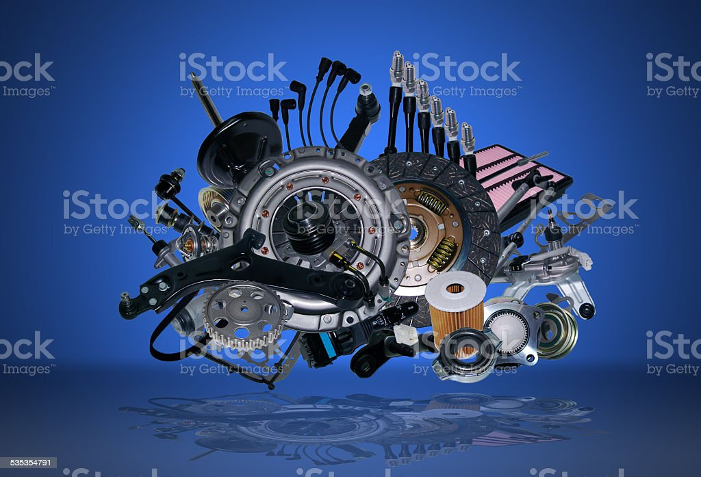 New spare parts stock photo