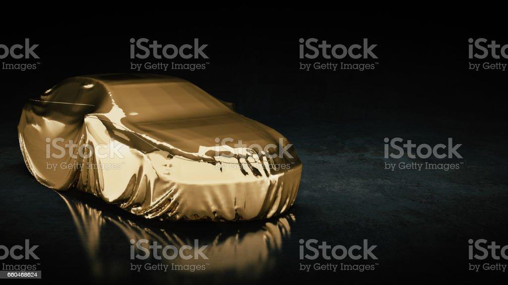 new sport car presentation. stock photo