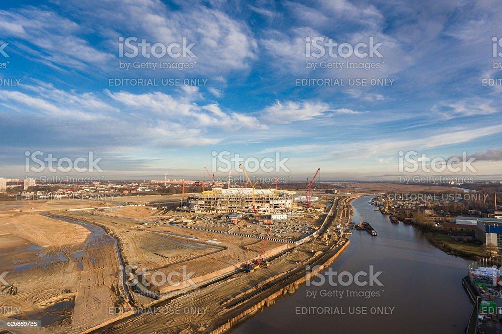 New stadium in Kaliningrad stock photo