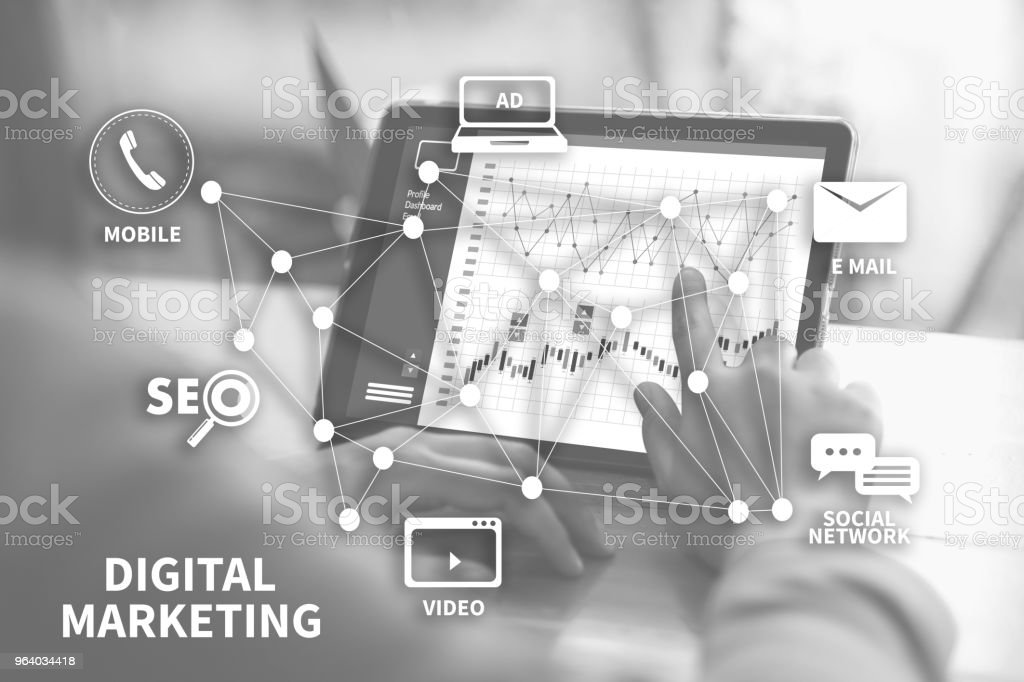 DIGITAL MARKETING new startup project MILLENNIALS Business team hands at work with financial reports and a laptop - Royalty-free Adult Stock Photo