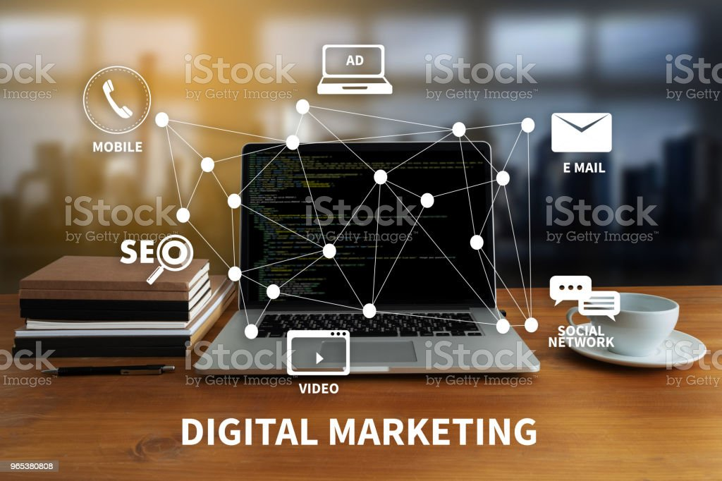 DIGITAL MARKETING new startup project MILLENNIALS Business team hands at work with financial reports and a laptop royalty-free stock photo