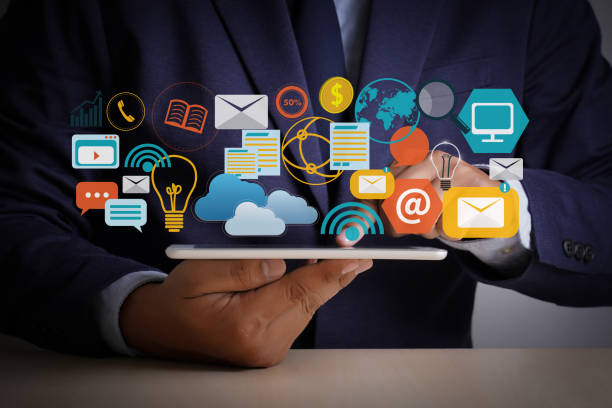 digital marketing new startup project millennials business team hands at work with financial reports and a laptop - digital marketing stock photos and pictures
