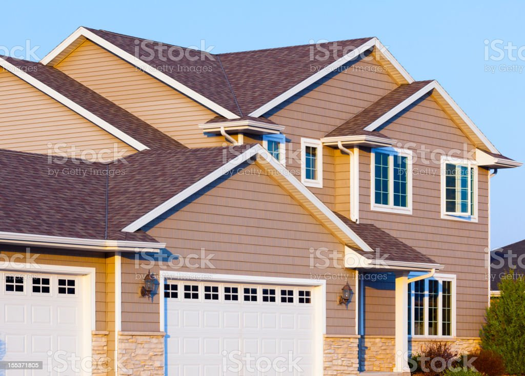 New Stone and Vinyl House royalty-free stock photo