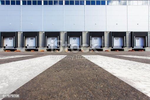 Storage entrances, new large warehouse
