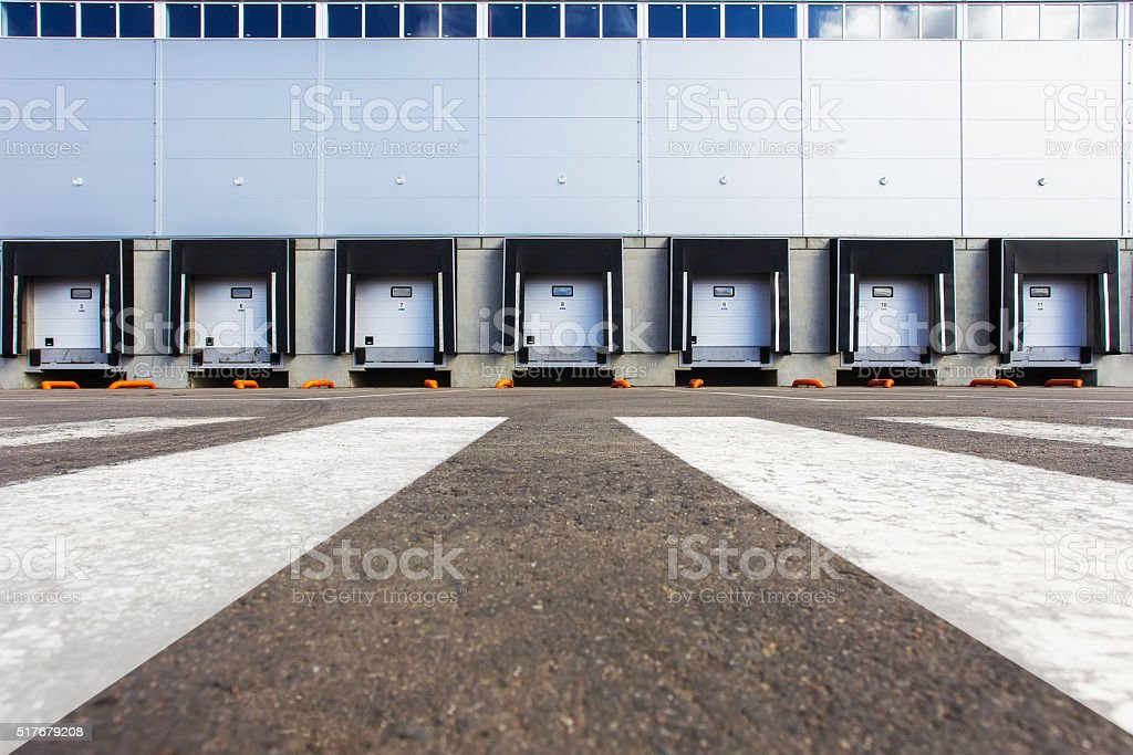 New Storage entrances stock photo