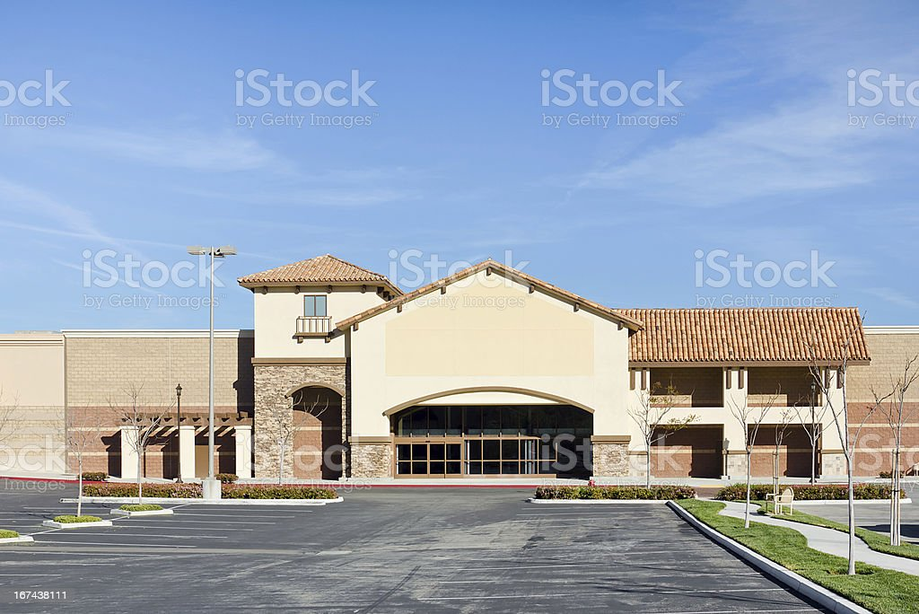 New Store Vacant stock photo