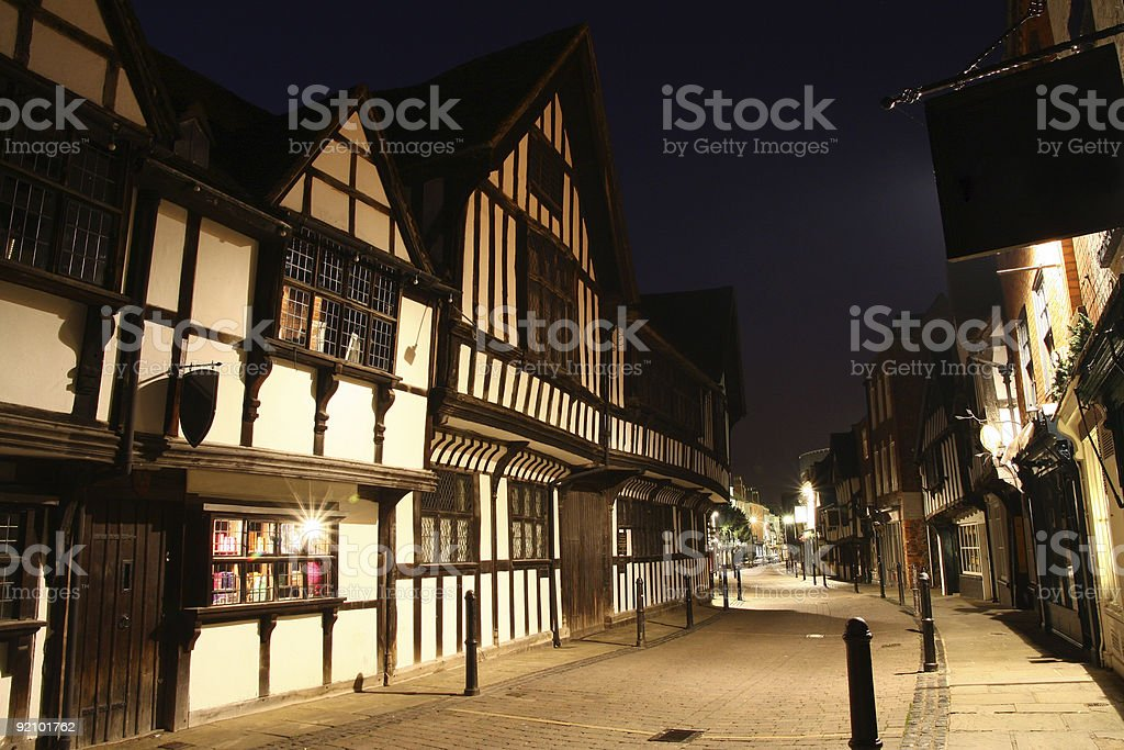 New Street, Worcester, UK stock photo