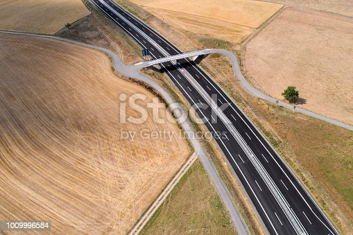 New stretch of federal road - aerial view