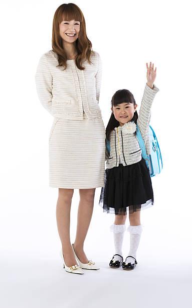 new student carried a schoolchild - よそいきの服 ストックフォトと画像