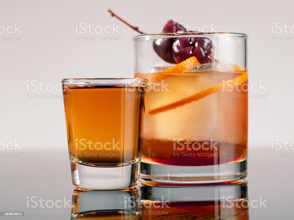 New Style Manhattan and Shot stock photo