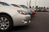 istock New Subaru Sedans at Dealership 458726745