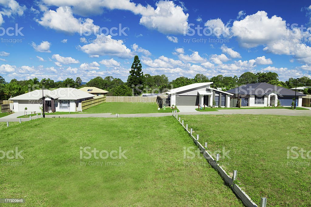 New suburban houses stock photo