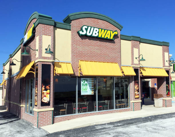 New Subway sandwich shop stock photo