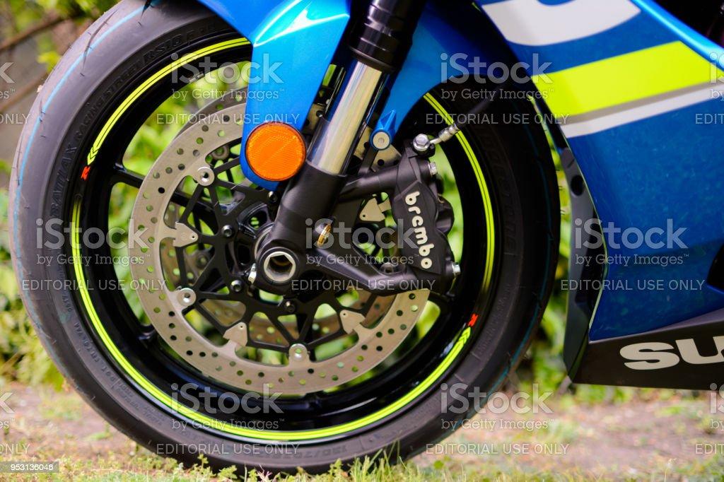 April 26, 2018. Suzuki GSXR 1000 L7 super sport motorcycle from 2018,...