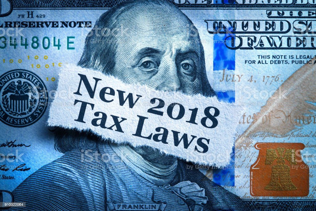 New Tax Laws For 2018 stock photo