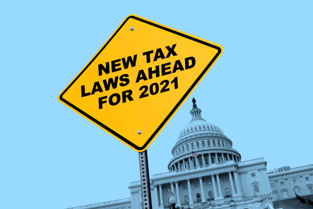 New Tax Laws For 2021 stock photo