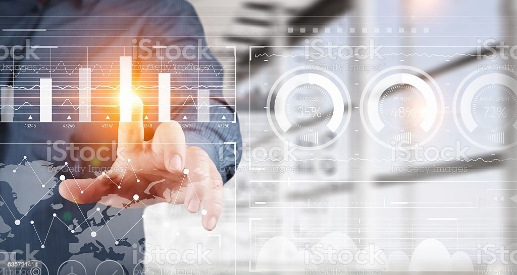 New technologies for business . Mixed media stock photo