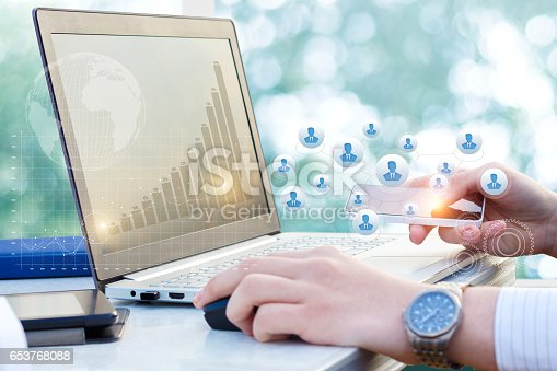 istock New technologies in business processes. 653768088