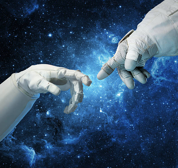 New technologies in space. stock photo