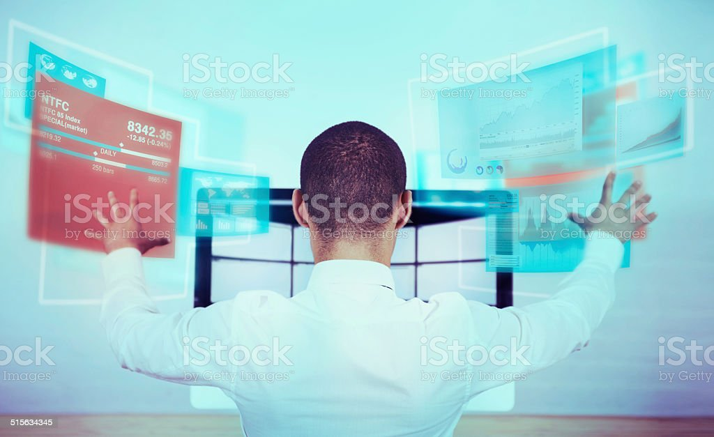 New technology simplifying complex processes stock photo