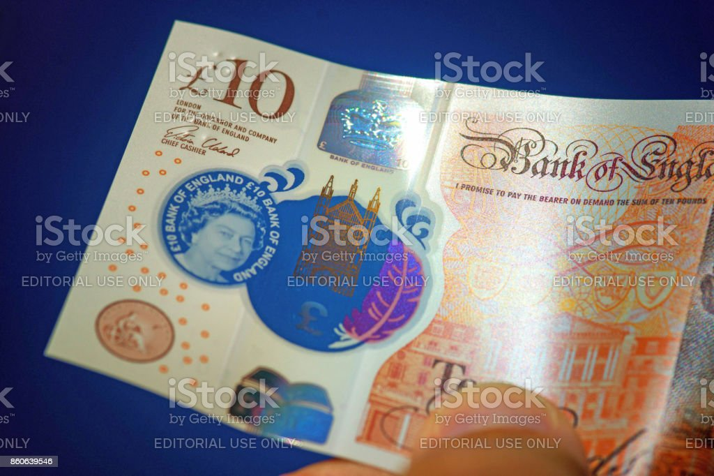 New ten pound note released 2017 stock photo