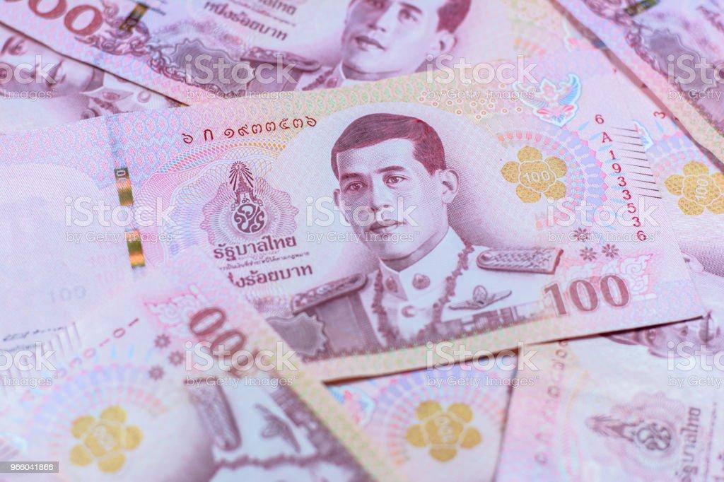 Nieuwe Thaise baht-valuta - Royalty-free Bank - Financieel gebouw Stockfoto