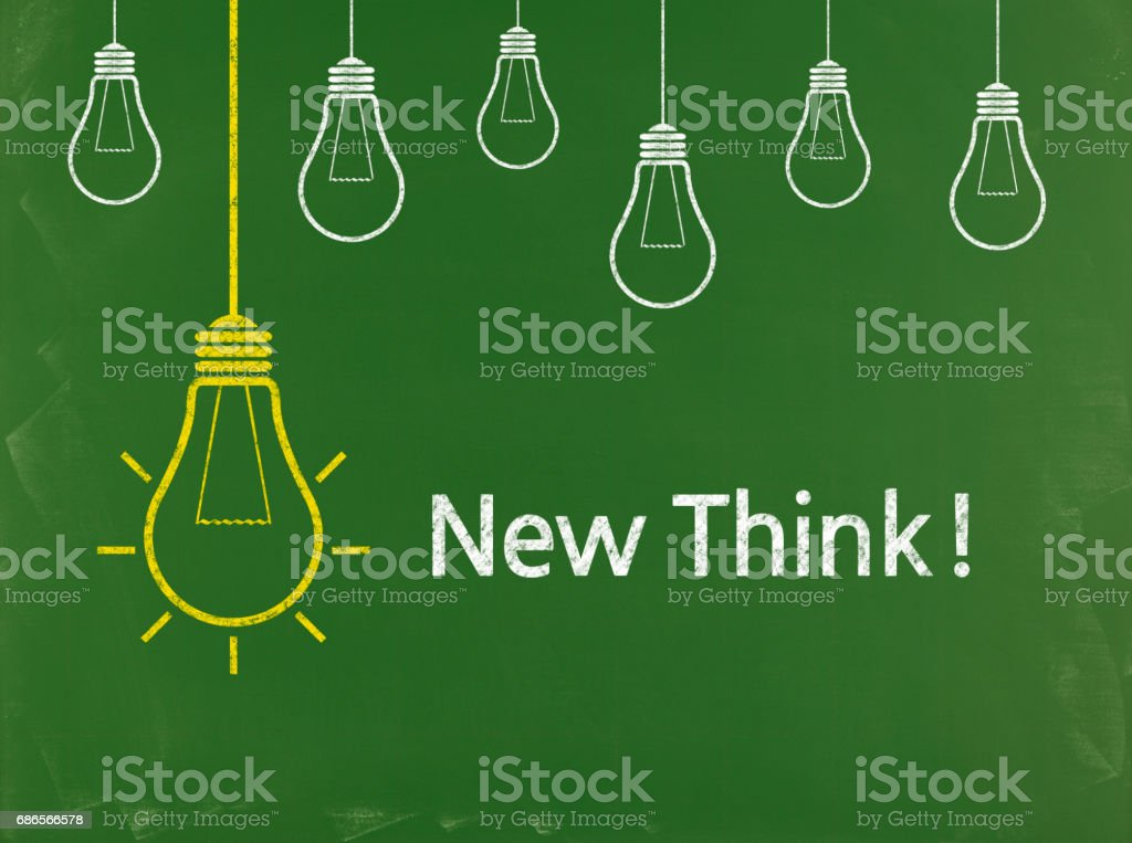 New Think! - Business Chalkboard Background foto stock royalty-free