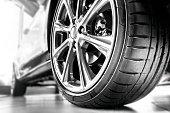 istock New tire and rim 1127576692