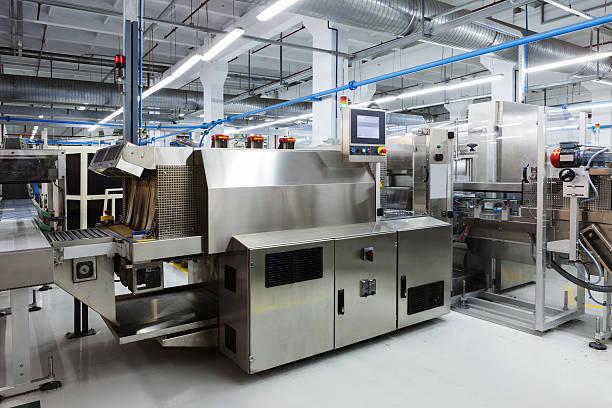 新しいツールでモダンな工場 ストックフォト