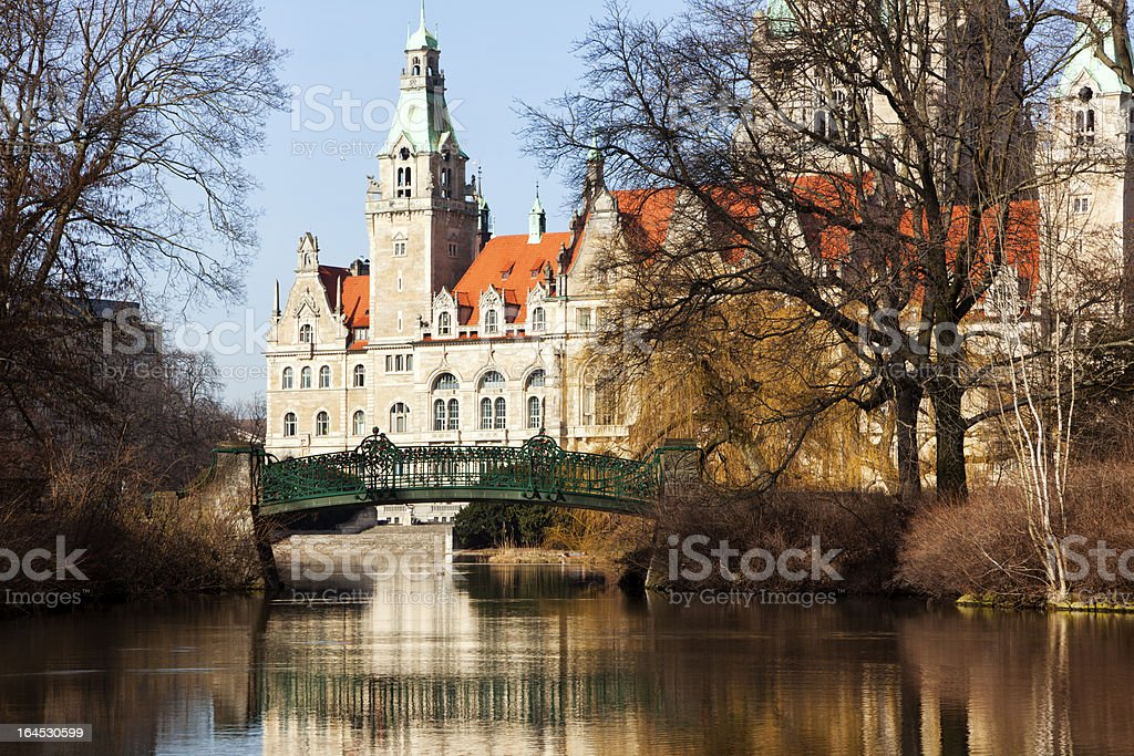 New Town Hall at Hannover, Germany stock photo