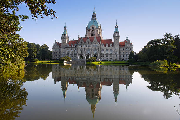 Neu Stadt Hall-building (Rathaus) in Hannover, Deutschland – Foto
