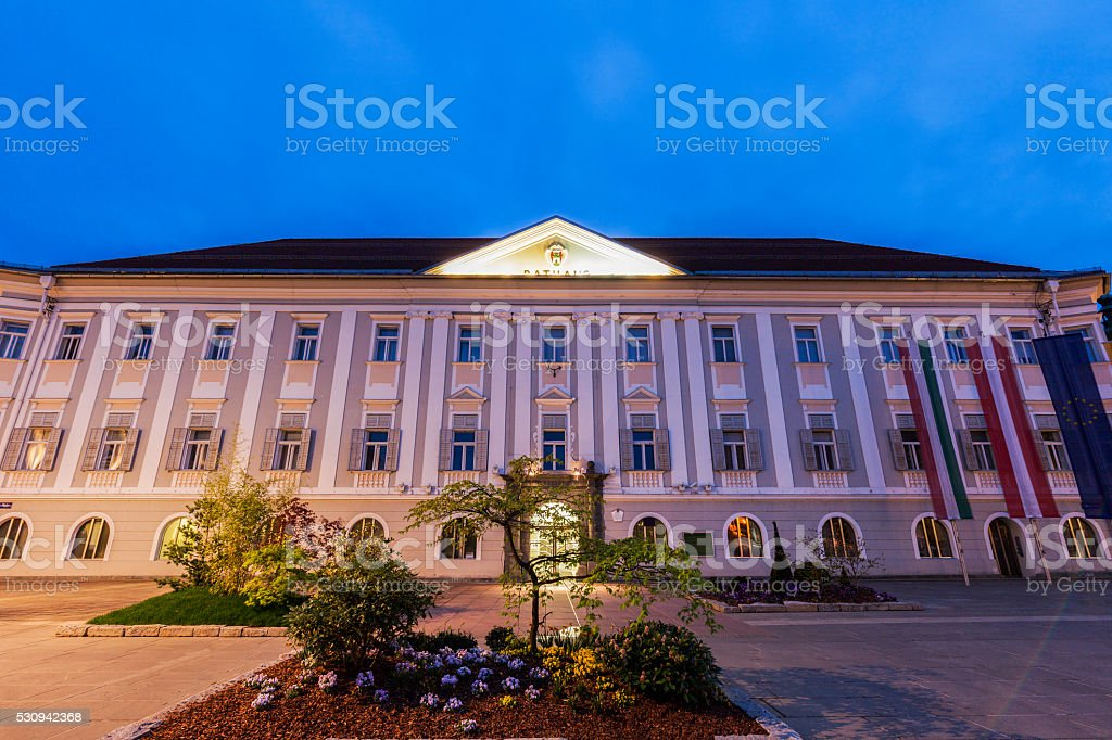 Neues Rathaus in Klagenfurt stock photo