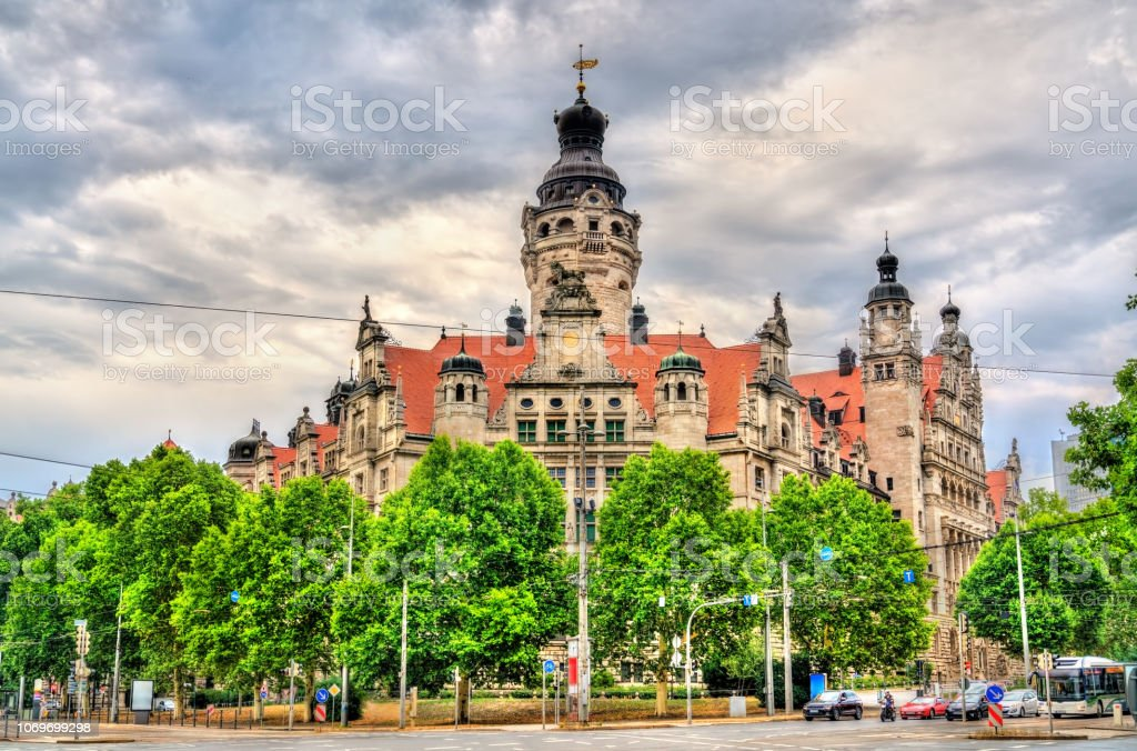 New Town Hall In Leipzig Germany Stock Photo Download Image Now Istock