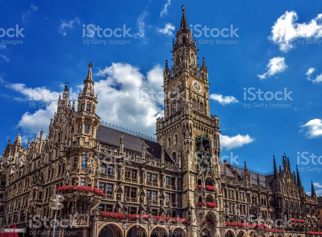 New Town Hall (Rathaus) - Munich - Germany stock photo