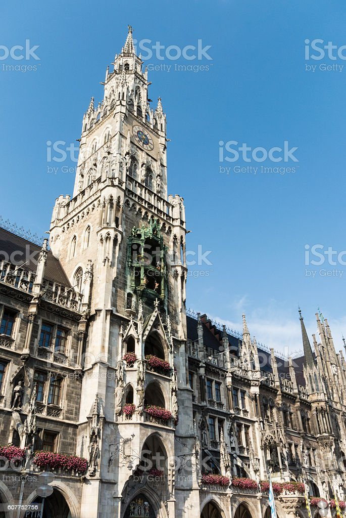 New Town Hall of Munich Germany stock photo