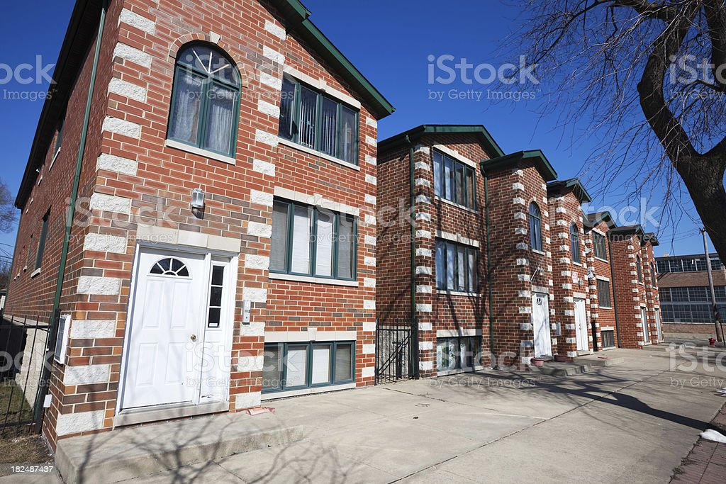 New Town Houses in Brighton Park, Chicago royalty-free stock photo